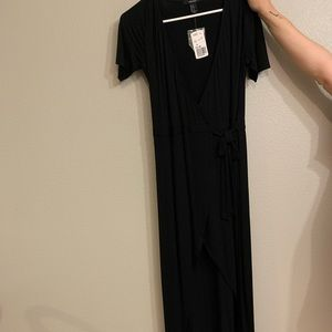 Maxi wrap dress with tags